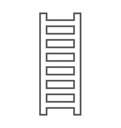 Wooden staircase icon in linear style vector