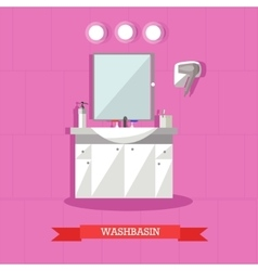Washbasin and accessories vector