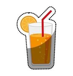 Cocktail orange juice citrus fruit vector