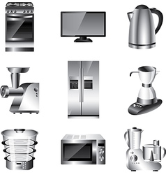 Icons technic kitchen vector
