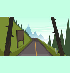 Mountain asphalt road vector