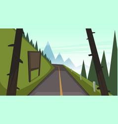 mountain asphalt road vector image