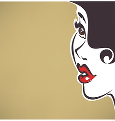 pin up face vector image