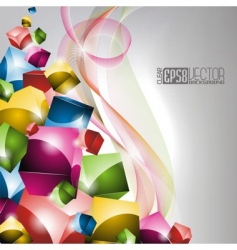 Coloures winding design vector