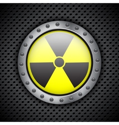 Radiation sign vector