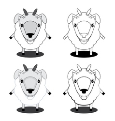 Lamb in different styles vector