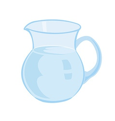 Jug with milk isolated on a white background vector