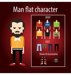 Adult stylish man angry hipster vector