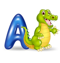 Cartoon of a letter for alligator vector