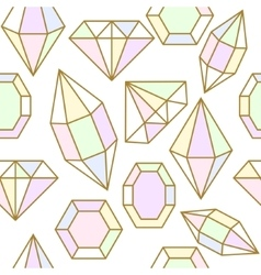 Diamond jem shape seamless pattern vector