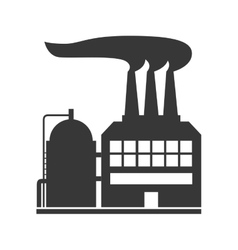 Plant building icon industry design vector
