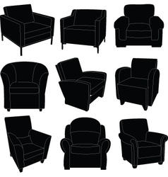 armchairs vector image vector image