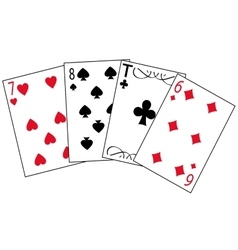 Cards for play vector image vector image