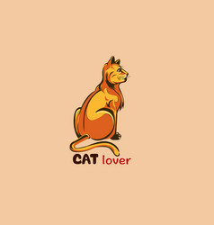 Cat lover vector