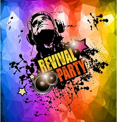 Club Disco Flyer template with Music Elements vector image vector image