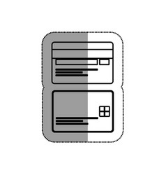 Credit cards isolated icon vector
