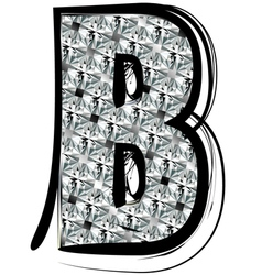 Diamond Font letter B vector image vector image
