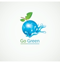 Eco Go Green vector image