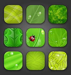 Ecologic backgrounds with leaves texture for the vector image