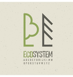 ecological emblem template vector image vector image