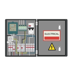 Electrical panel vector