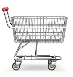 empty supermarket cart vector image vector image
