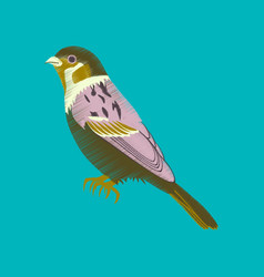 Flat shading style icon sparrow vector