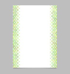 Green diagonal square pattern brochure background vector