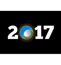 Happy New Year on the background of a golf ball vector image