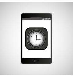 Icon smartphone design clock time vector