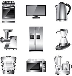 icons technic kitchen vector image