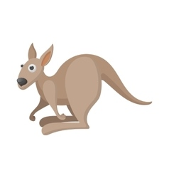 Kangaroo icon cartoon style vector