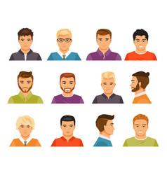 Male avatars vector
