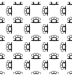 Metal knuckles seamless pattern vector