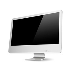 Modern computer monitor vector image vector image