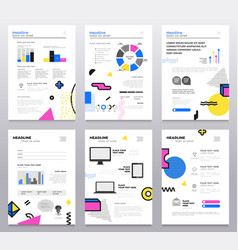 Presentation booklet - set of modern vector