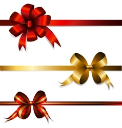 set of gift bows vector image