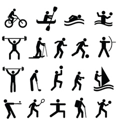 sports and training icons vector image