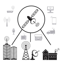 Transmission satellite information communication vector