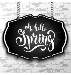 Unique handwritten lettering spring drawn by vector