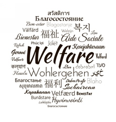 Welfare different languages vector image