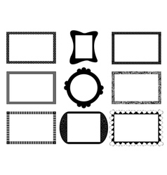 Photo frame collection vector