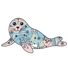 Seal pup colorful vector image
