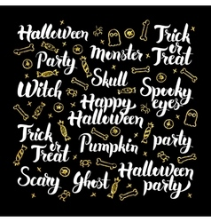 Scary halloween calligraphy design vector