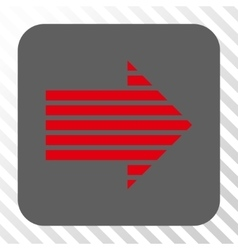 Stripe arrow right rounded square button vector