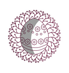 figure cute easter egg with branches decoration vector image