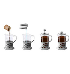 Instruction how to make coffee vector