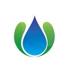 wave waterdrop logo image vector image