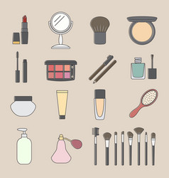 Cosmetic icon vector