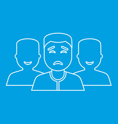 community icon outline style vector image